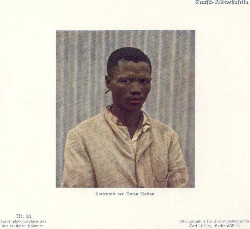 Nr. 13 Deutsch-Südwestafrika, Hottentott der Roten Nation