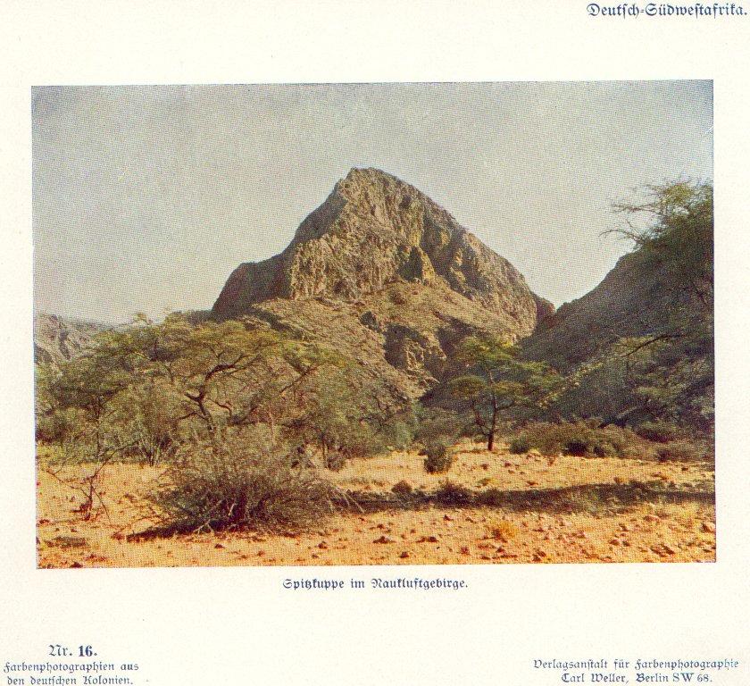 Nr. 16 Deutsch-Südwestafrika, Spitzkuppe im Naukluftgebirge