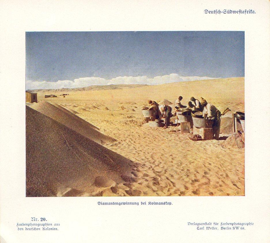 Nr. 20 Deutsch-Südwestafrika, Diamantengewinnung bei Kolmanskop