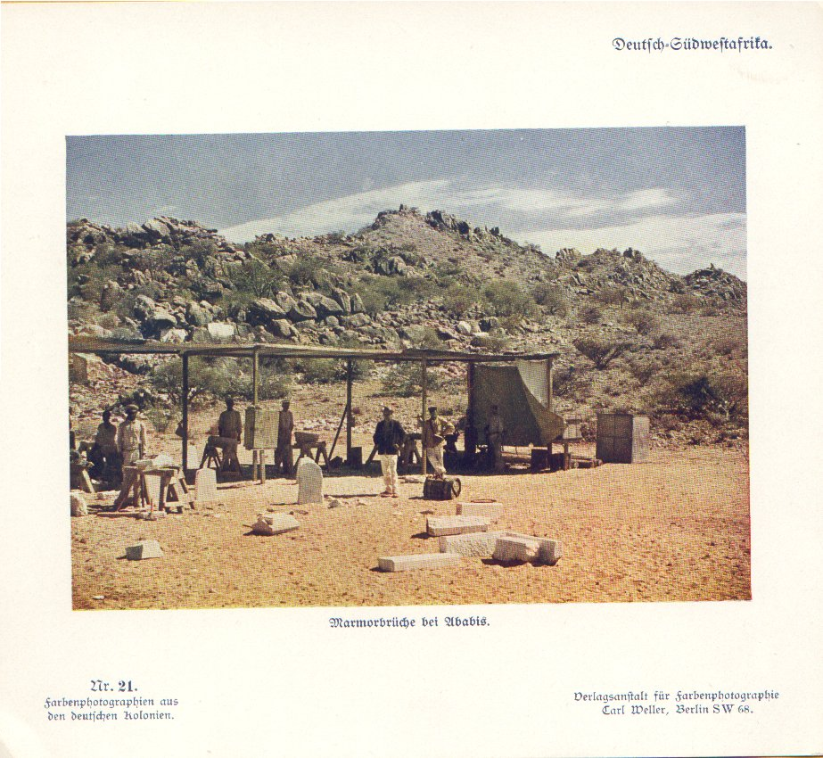Nr. 21 Deutsch-Südwestafrika, Marmorbrüche bei Abadis
