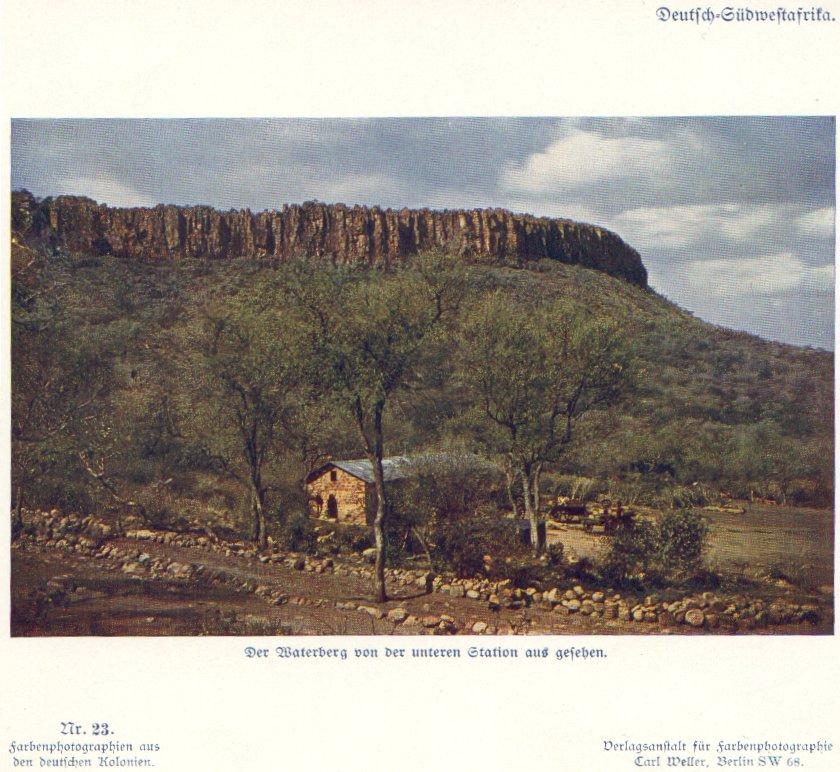 Nr. 23 Deutsch-Südwestafrika, Der Waterberg von der unteren Station aus gesehen