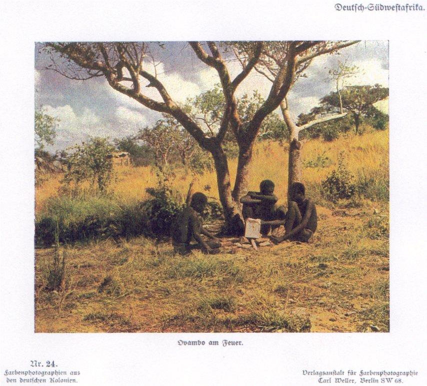 Nr. 24 Deutsch-Südwestafrika, Ovambo am Feuer