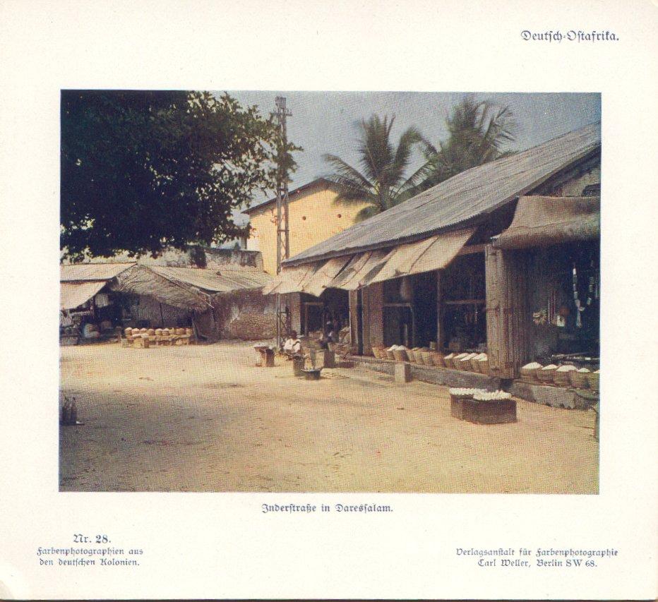 Nr. 28 Deutsch-Ostafrika, Inderstraße in Daressalam