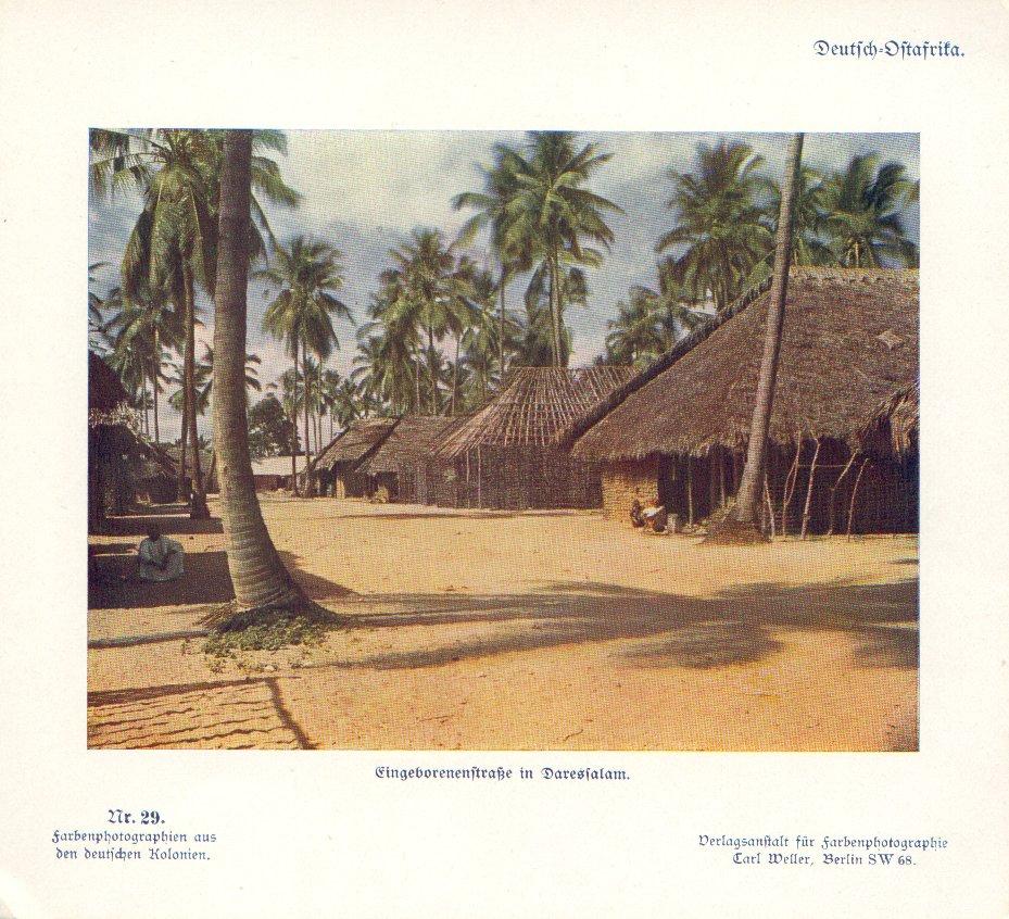 Nr. 29 Deutsch-Ostafrika, Eingeborenenstraße in Daressalam
