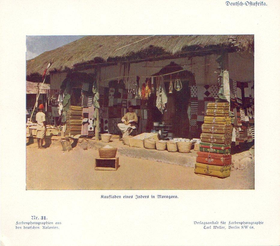 Nr. 31 Deutsch-Ostafrika, Kaufladen eines Inders in Morogoro