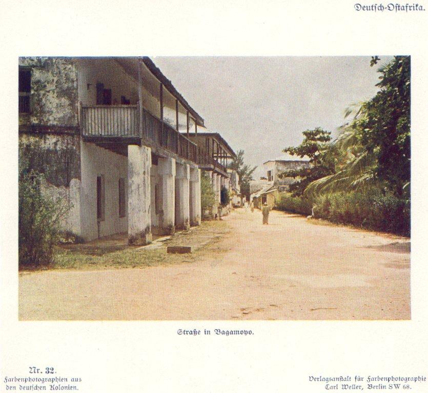 Nr. 32 Deutsch-Ostafrika, Straße in Bagamoyo