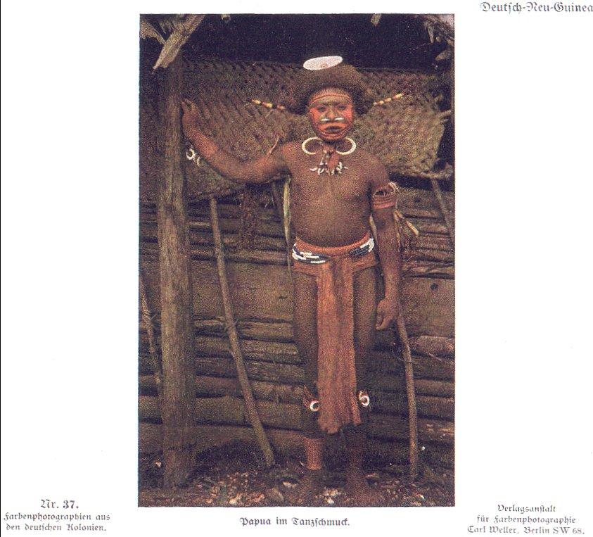 Nr. 37 Deutsch-Neu-Guinea, Papua im Tanzschmuck