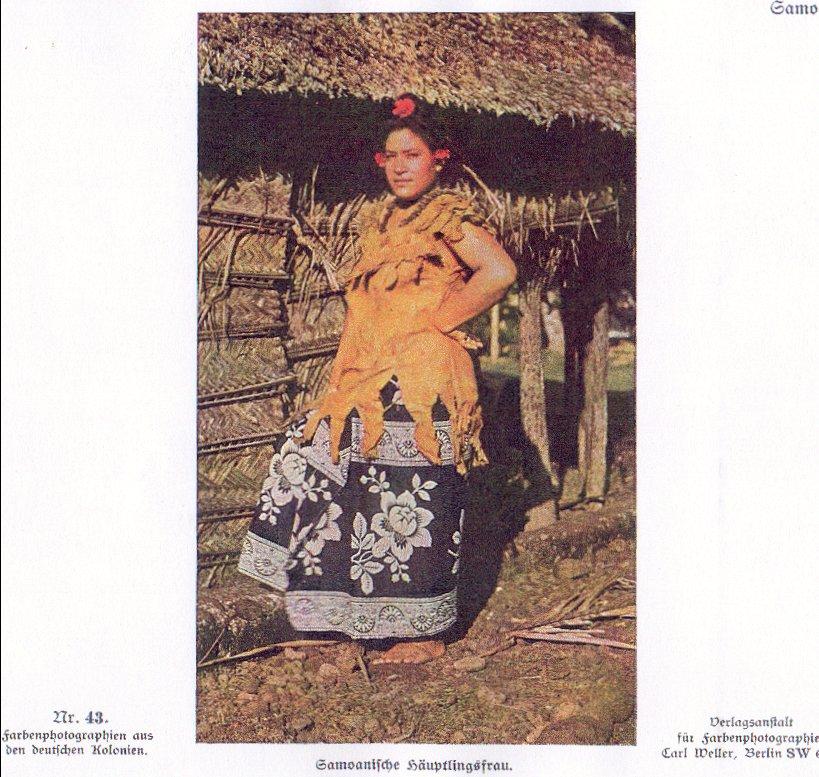 Nr. 43 Samoa, Samoanische Häuptlingsfrau