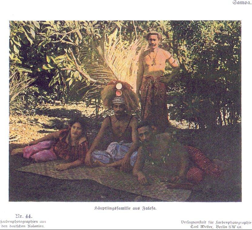 Nr. 44 Samoa, Häuptlingsfamilie aus Falefa
