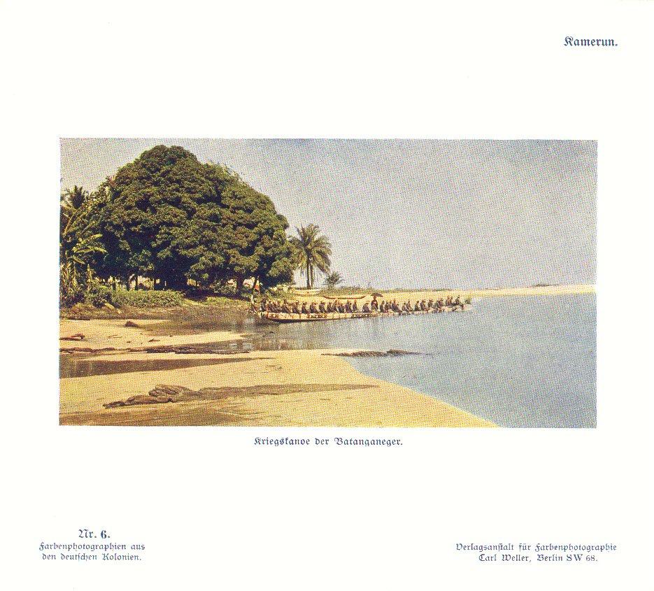 Nr. 6 Kamerun, Kriegskanoe der Batanganeger