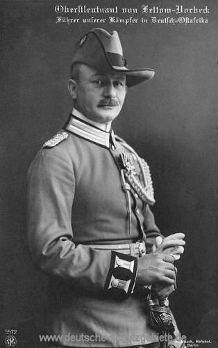 Oberstleutnant von Lettow-Vorbeck
