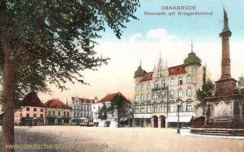Osnabrück, Neumarkt mit Kriegerdenkmal