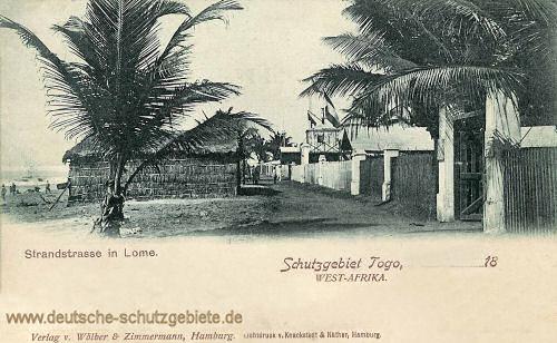 Schutzgebiet Togo, Strandstrasse in Lome