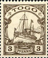 Togo 3 Pfennig, 1900