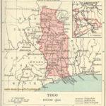 Togo, Landkarte 1914