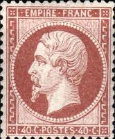 40 C Empire Franc, 1862