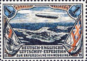 Deutsch-Englische Luftschiffexpedition zur Erforschung v. Neu-Guinea, 1 Mark
