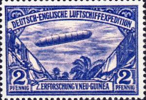 Deutsch-Englische Luftschiffexpedition zur Erforschung v. Neu-Guinea, 2 Pfennig