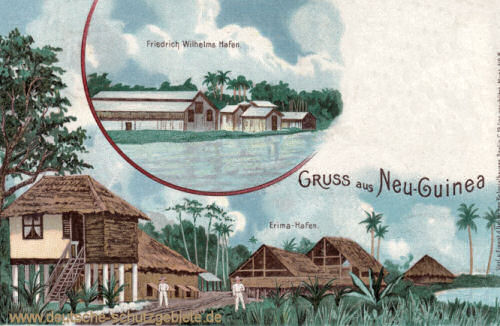 Deutsch-Neu-Guinea, Friedrich Wilhelms-Hafen, Erima-Hafen