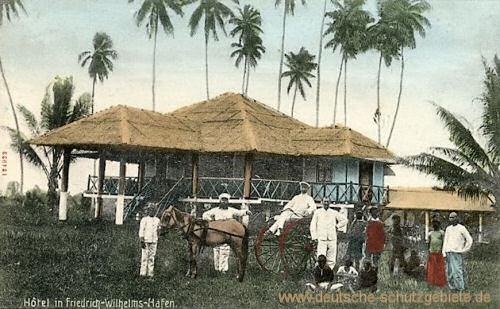 Deutsch-Neu-Guinea. Hotel in Friedrich-Wilhelms-Hafen