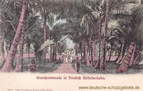Deutsch-Neu-Guinea, Strandpromenade in Friedrich Wilhelmshafen