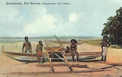 Deutsch-Neu-Guinea, Berlinhafen, Eingeborene von Tambeo