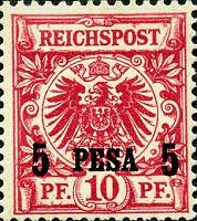 Deutsch-Ostafrika 5 Pesa, 1893