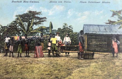 Deutsch Neu-Guinea, Abreise von Wareo