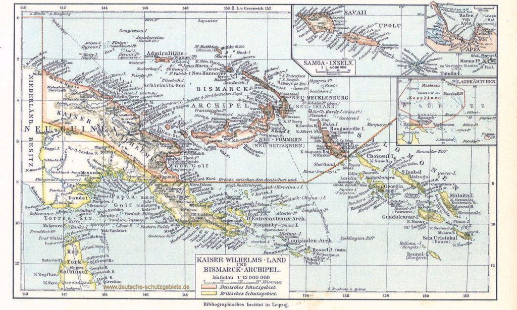 Kaiser-Wilhelms-Land, Bismarck-Archipel, Salomonen
