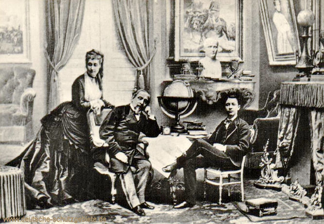 Napoleon III. mit Frau und Sohn