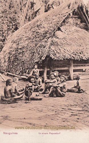 Neuguinea, In einem Papuadorf