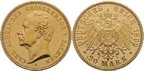 20 Mark 1892, Carl Alexander
