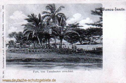 Samoa-Inseln, Fort, von Tanuleuten errichtet