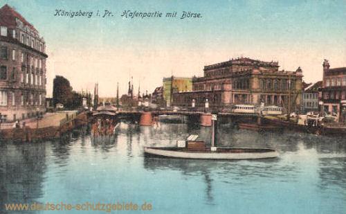 Königsberg, Hafenpartie mit Börse