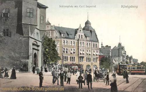 Königsberg, Schlossplatz mit Café Imperial