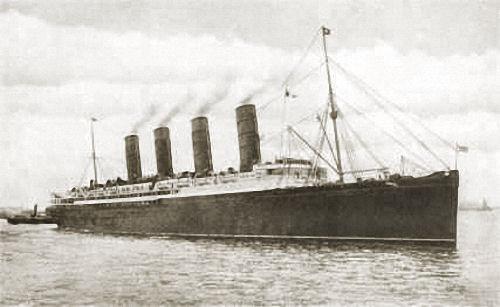 Lusitania, 1915