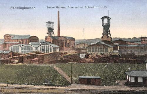 Recklinghausen, Zeche General Blumenthal Schacht III und IV