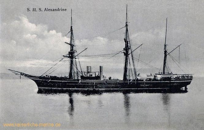 S.M.S. Alexandrine, Korvette