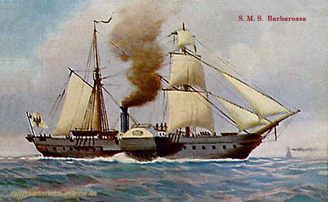 S.M.S. Barbarossa, Dampf-Fregatte