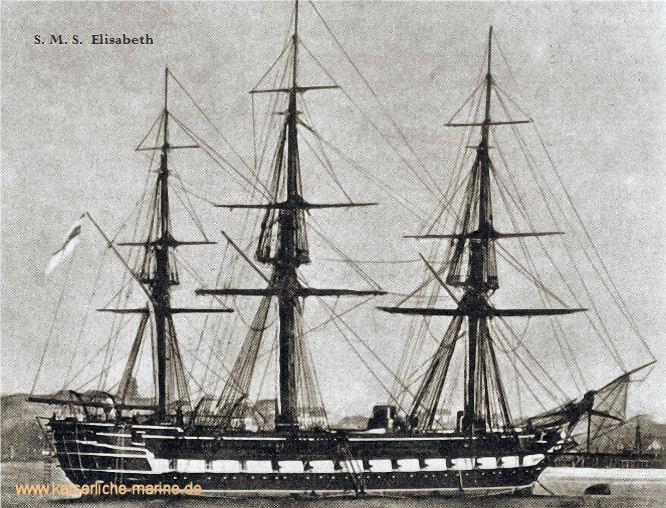 S.M.S. Elisabeth, Gedeckte Korvette 1868