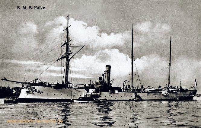 S.M.S. Falke, Kleiner ungeschützter Kreuzer