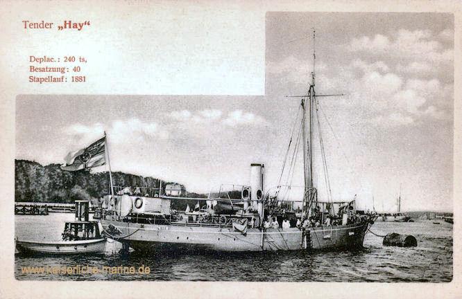 S.M.S. Hay, Kanonenboot