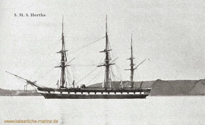S.M.S. Hertha, Gedeckte Korvette