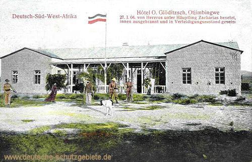 Deutsch-Südwestafrika, Hotel O. Glöditzsch, Otjimbingwe