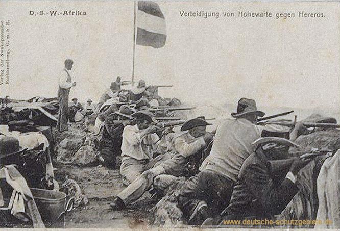 Deutsch-Südwestafrika, Verteidigung von Hohewarte gegen Hereros