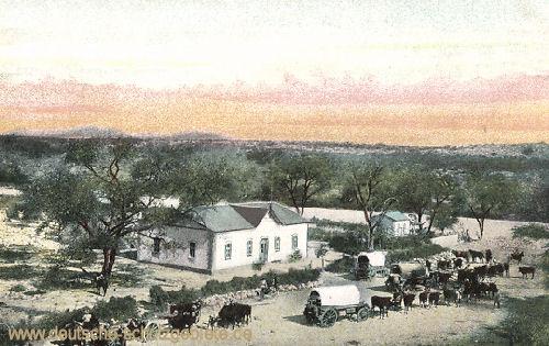 Anwesen des von Hereros ermordeten Farmers Joost