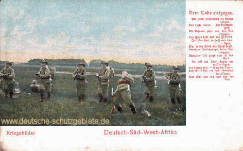 Deutsch-Südwestafrika, Kriegsbilder - Dem Tode entgegen