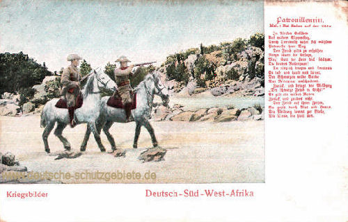 Deutsch-Südwestafrika, Kriegsbilder - Patrouillenritt