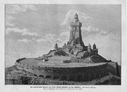 Der Entwurf zum Kaiser Wilhelm-Denkmal auf dem Kyffhäuser von Prof. Bruno Schmitz