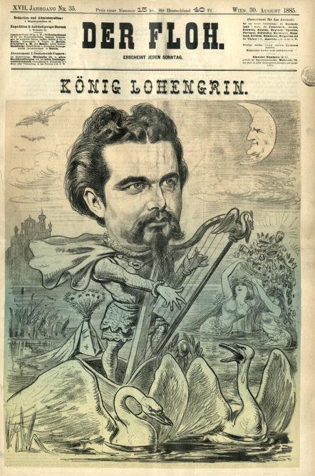 """""""König Lohengrin"""", Der Floh, Wien 30. August 1885"""